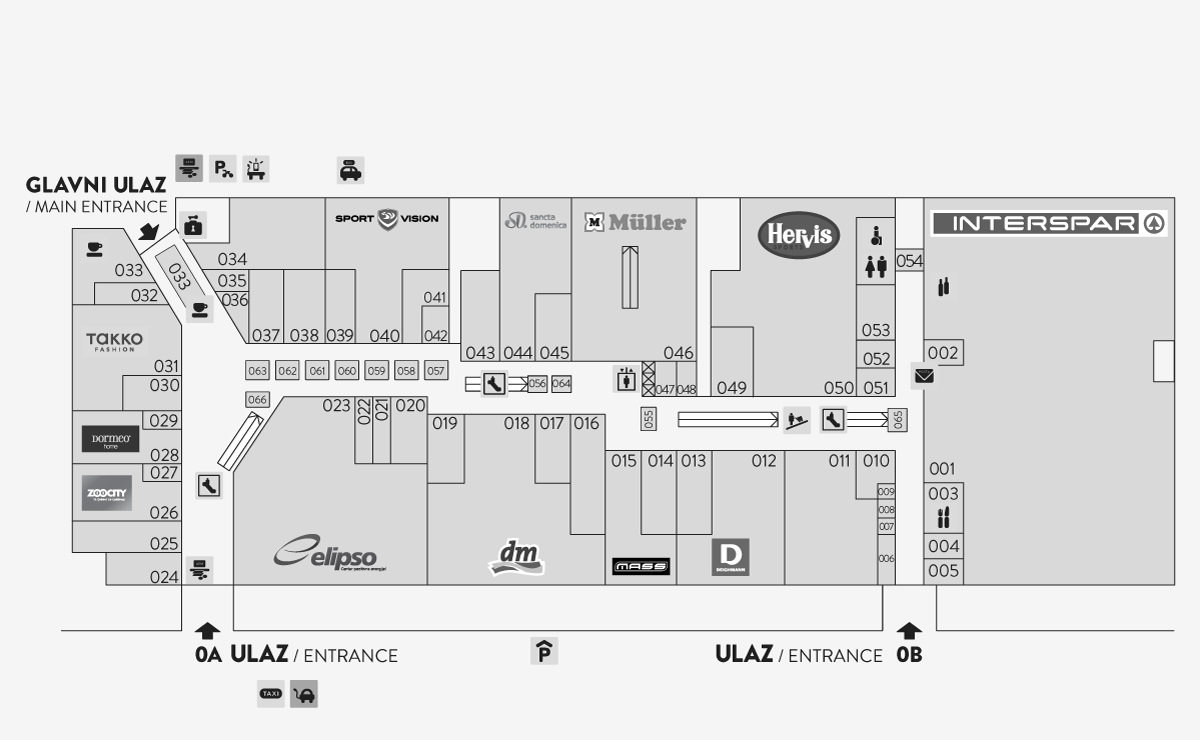 City Center Shop Map